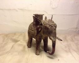 bronze antique handmade tribal elephant figure in india