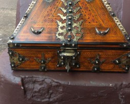 Traditional kerala jewelry box with vegetable oil paint