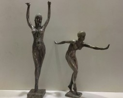 silver covered bronze figures of sports ladies for sale in india