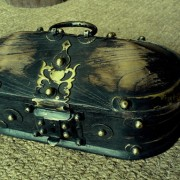 Kerala Traditional Antique box Called Tortoise Box With Beautiful Brass Fittings And made of Teak Wood 3