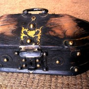 Kerala Traditional Antique box Called Tortoise Box With Beautiful Brass Fittings And made of Teak Wood 4