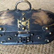 Kerala Traditional Antique box Called Tortoise Box With Beautiful Brass Fittings And made of Teak Wood 6