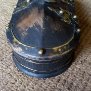 Kerala Traditional Antique box Called Tortoise Box With Beautiful Brass Fittings And made of Teak Wood 7