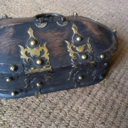 Kerala Traditional Antique box Called Tortoise Box With Beautiful Brass Fittings And made of Teak Wood 2