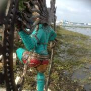 Antique Bronze Shiva Dancing Idol Nataraja Statue With decorative Stone Art Of India For Sale 10