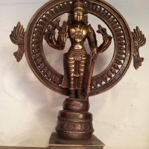 ANTIQUE BRONZE MADE LORD VISHNU STATUE FOR SALE IN INDIA