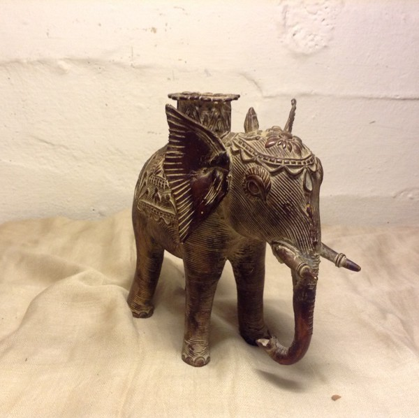 Buy Antique Bronze Tribal Elephant Figure From India online 1