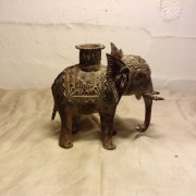 Buy Antique Bronze Tribal Elephant Figure From India online 3