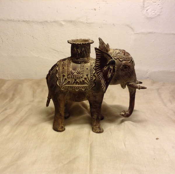 Buy Antique Bronze Tribal Elephant Figure From India online