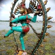 Antique Bronze Shiva Dancing Idol Nataraja Statue With decorative Stone Art Of India For Sale 5