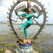 Antique Bronze Shiva Dancing Idol Nataraja Statue With decorative Stone Art Of India For Sale 7