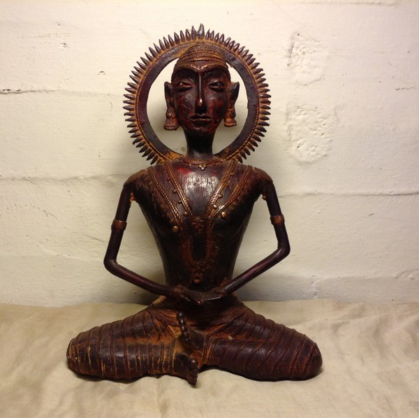 Handmade Antique Bronze Buddha Statue From India 1