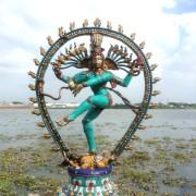 Antique Bronze Shiva Dancing Idol Nataraja Statue With decorative Stone Art Of India For Sale 8