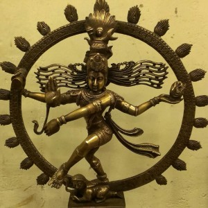 ANTIQUE BRONZE NATRAJA DANCING SHIVA STATUE RARE ONE FOR SALE