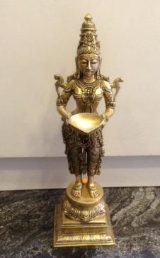 fine bronze lakshmi idol