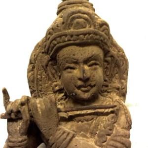 Beautiful Indian Antique Hindu Wooden Figures Krishna Statue From Kerala India