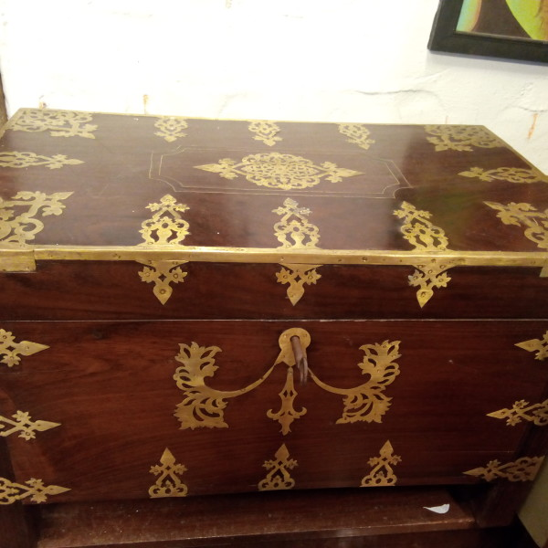 Antique Traditional Kerala Dowry Box For Sale In India.